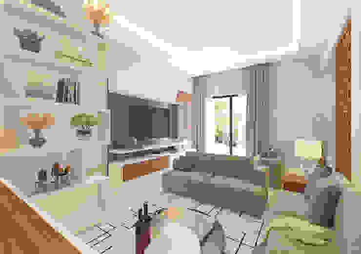 Living area Modern Living Room by Samanta's Studio Modern Plywood