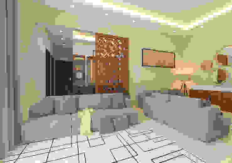 Living Area partition Modern Living Room by Samanta's Studio Modern MDF