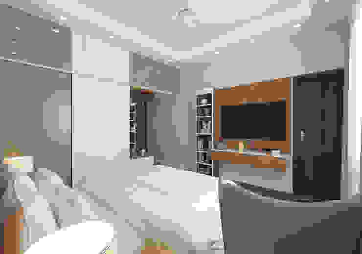 Tv unit with storage Modern Bedroom by Samanta's Studio Modern Plywood