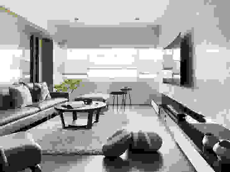 幸福鹿特丹 现代客厅設計點子、靈感 & 圖片 根據 御見設計企業有限公司 現代風