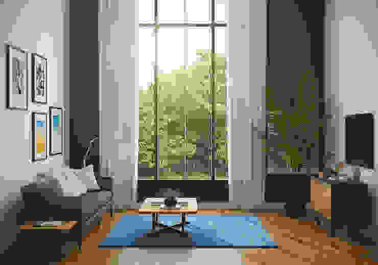 Salas modernas de casadellastudio Moderno Madera Acabado en madera