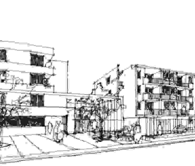 Condominio La Reina CAF Cubicaciones Oficinas y bibliotecas de estilo moderno