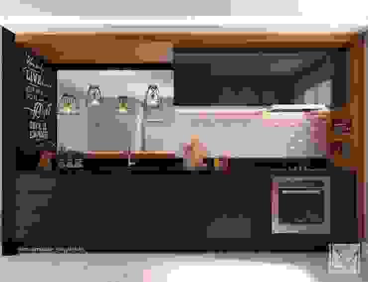 Cozinha Contemporânea por Laura Mueller Arquitetura + Interiores Moderno Madeira Efeito de madeira