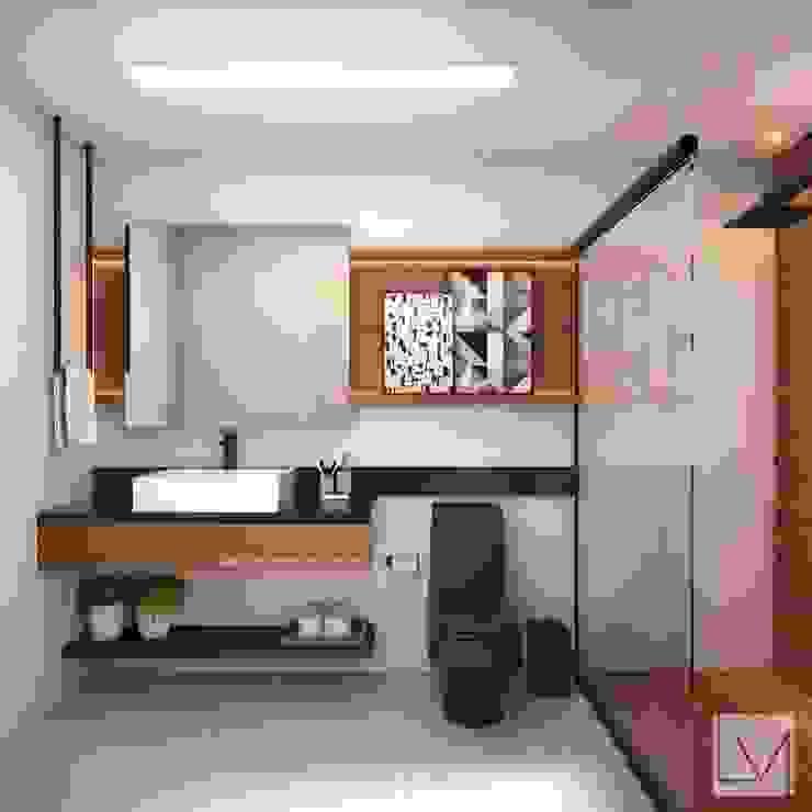 Laura Mueller Arquitetura + Interiores Ванна кімната Дерево Чорний