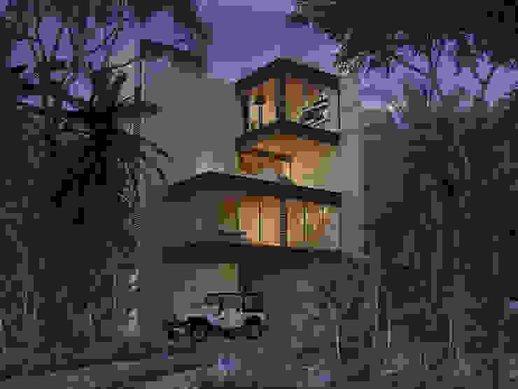 fachada principal hacia la laguna de Daniel Cota Arquitectura | Despacho de arquitectos | Cancún