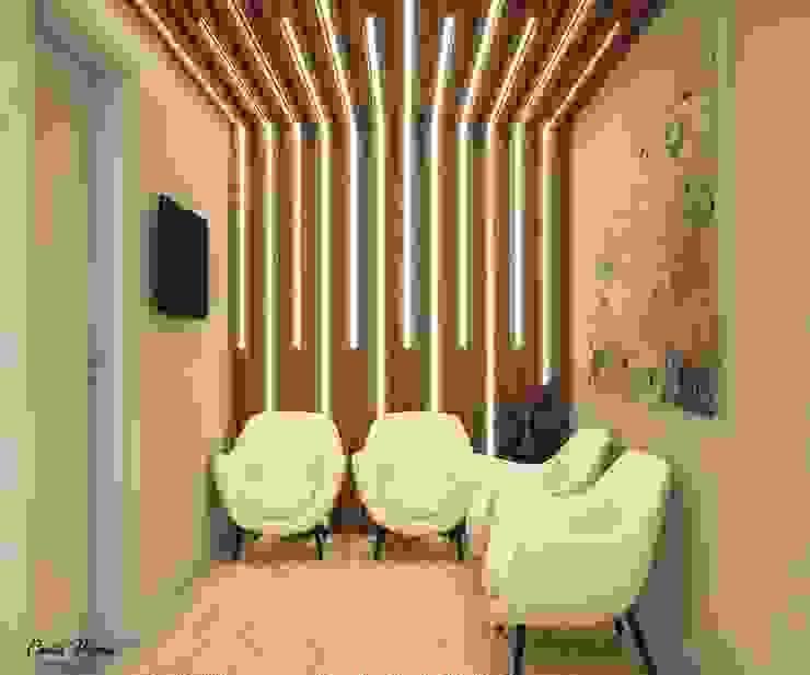 Area de Espera Clínicas modernas por Camila Pimenta   Arquitetura + Interiores Moderno Madeira Efeito de madeira