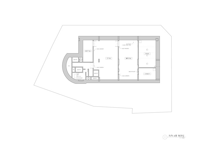 B4F PLAN: 위 종합건축사사무소의 현대 ,모던
