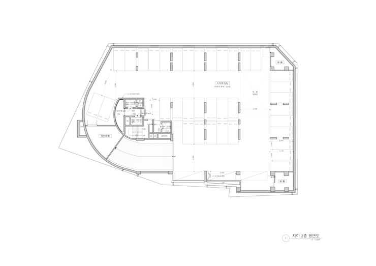 B3F PLAN: 위 종합건축사사무소의 현대 ,모던