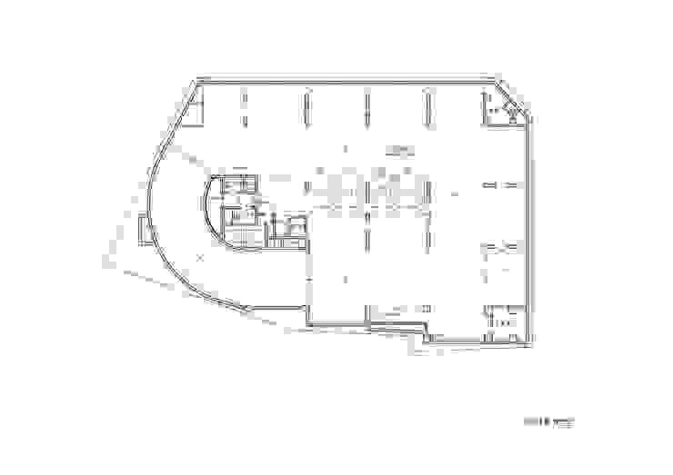 B1F PLAN: 위 종합건축사사무소의 현대 ,모던