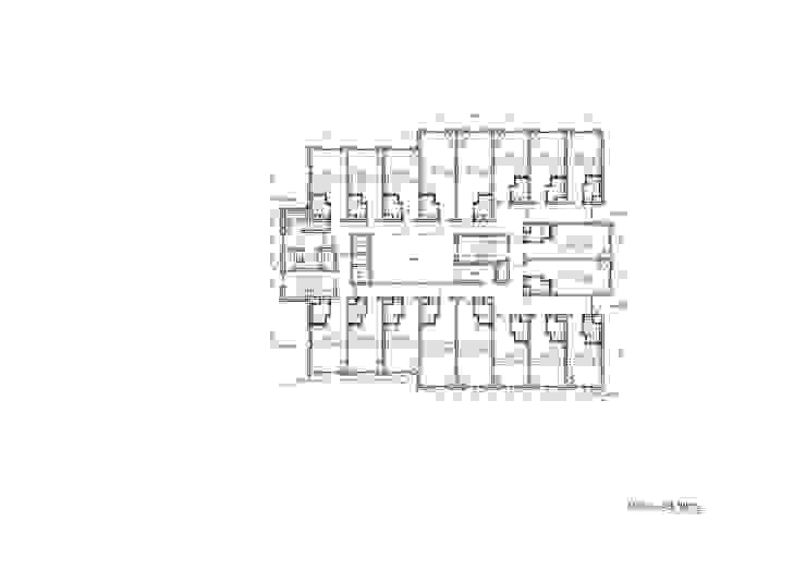 4-14F PLAN: 위 종합건축사사무소의 현대 ,모던