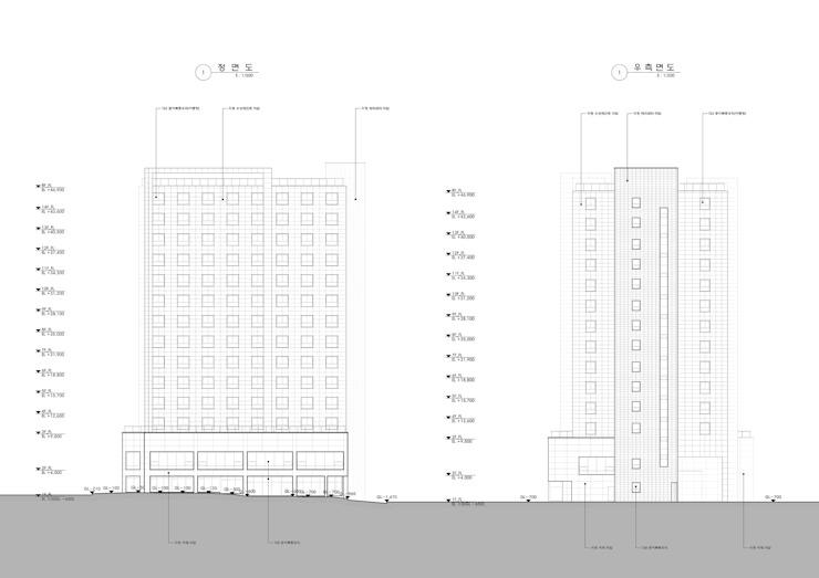 ELEVATION: 위 종합건축사사무소의 현대 ,모던