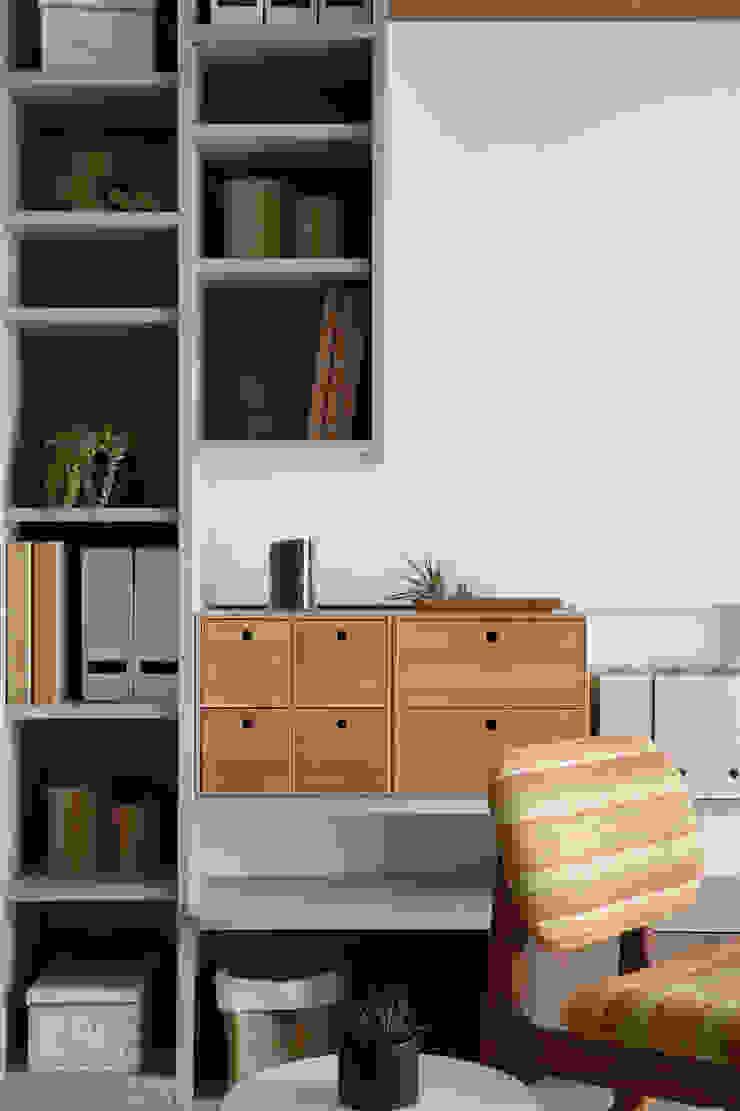 日式無印收納宅 收納小物: 斯堪的納維亞  by 達譽設計, 北歐風