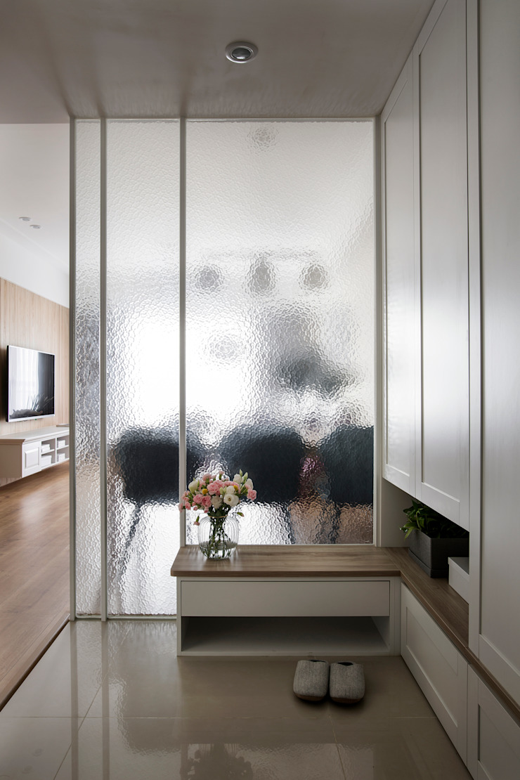 輕饗宴 乡村风格的走廊,走廊和楼梯 根據 達譽設計 鄉村風 玻璃