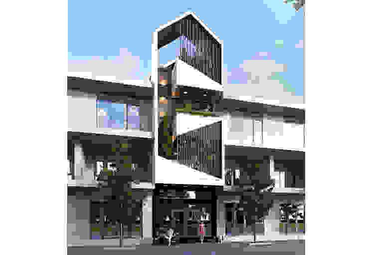 Casas de estilo asiático de Công ty Thiết Kế Xây Dựng Song Phát Asiático