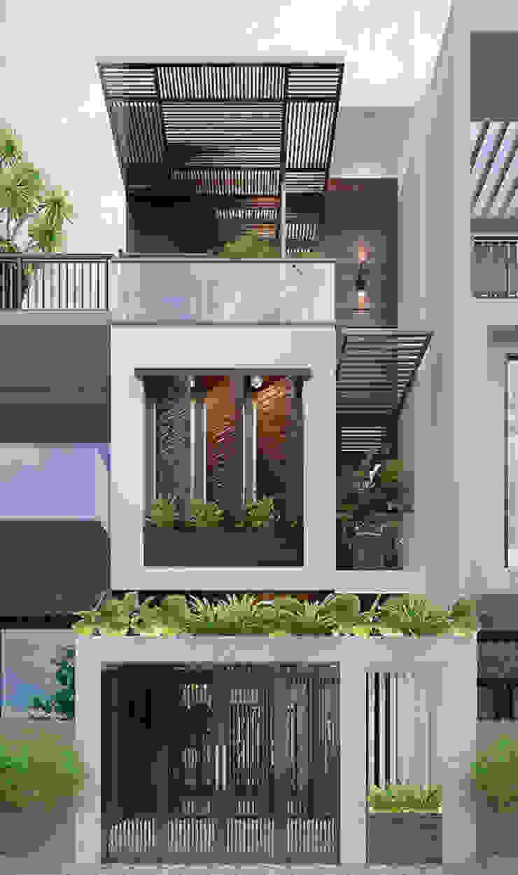 Asiatische Häuser von Công ty Thiết Kế Xây Dựng Song Phát Asiatisch