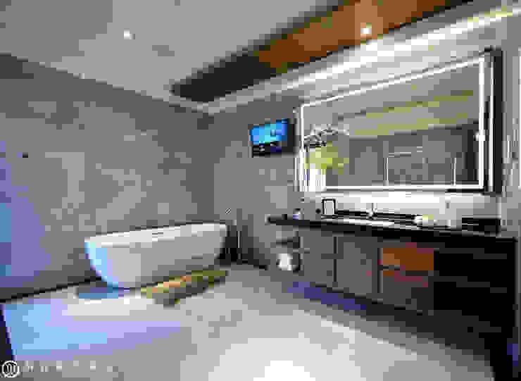 住盛不動產/天鑽V-金迷風尚 現代浴室設計點子、靈感&圖片 根據 SING萬寶隆空間設計 現代風
