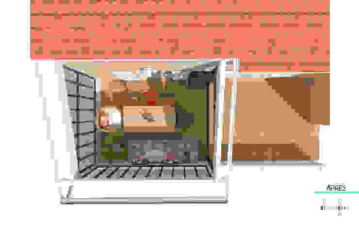Décoration des pièces d'une maison – St Just Chaleyssin Balcon, Veranda & Terrasse industriels par 1.61 design Industriel Bois Effet bois