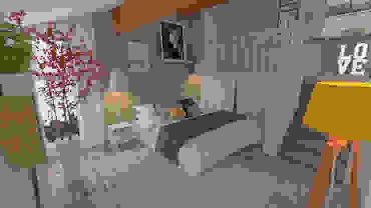 Décoration des pièces d'une maison – St Just Chaleyssin Chambre moderne par 1.61 design Moderne