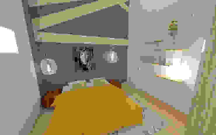 Home staging virtuelle pour la vente d'une maison – Pélussin Chambre moderne par 1.61 design Moderne