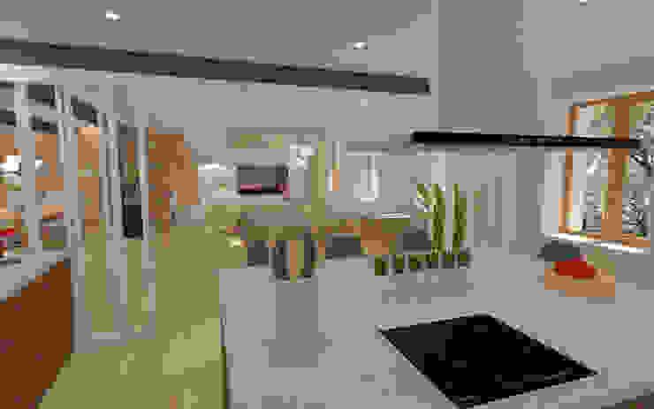 Home staging virtuelle pour la vente d'une maison – Pélussin Cuisine moderne par 1.61 design Moderne Bois Effet bois
