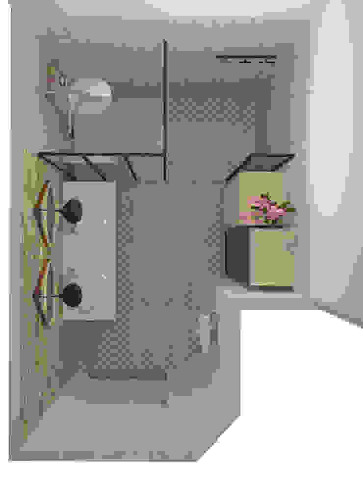 Salle de douche – Meylan Salle de bain industrielle par 1.61 design Industriel