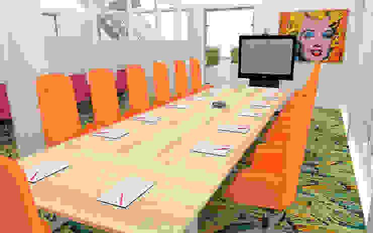 Aménagement d'un espace détente et de salles de réunions – Lyon Bars & clubs originaux par 1.61 design Éclectique