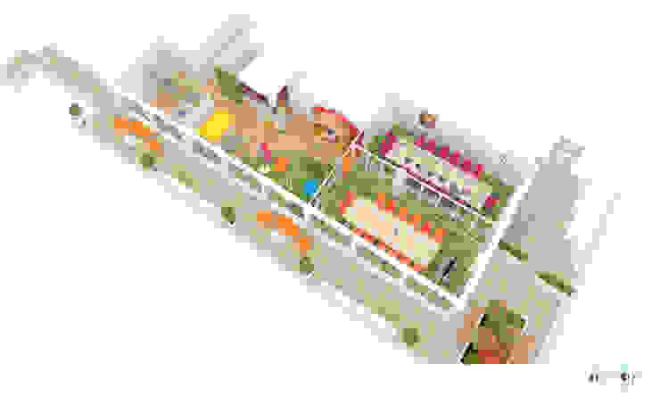 Aménagement d'un espace détente et de salles de réunions – Lyon Espaces de bureaux originaux par 1.61 design Éclectique