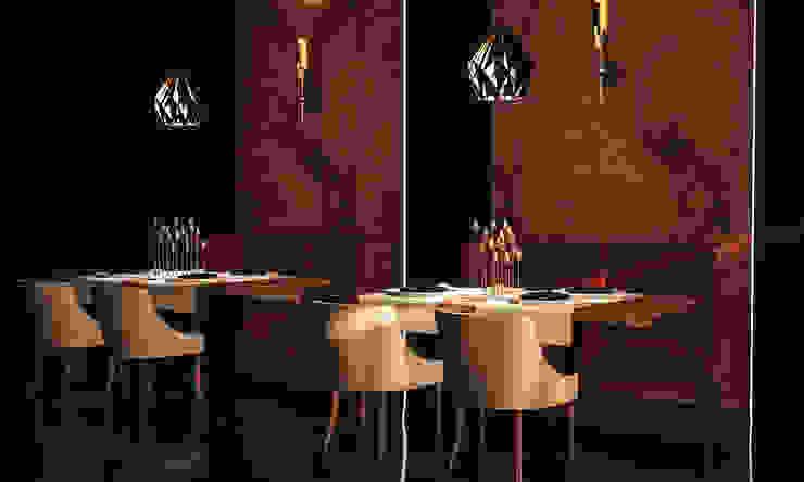 Konsept Lux Restaurant Projesi Modern Yemek Odası Atölye Teta Modern