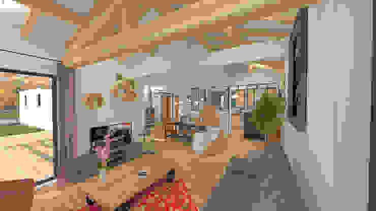 Aménagement et décoration d'une maison neuve - Lagnieu Salon moderne par 1.61 design Moderne