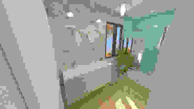 Aménagement et décoration d'une maison neuve – Lagnieu Salle de bain moderne par 1.61 design Moderne