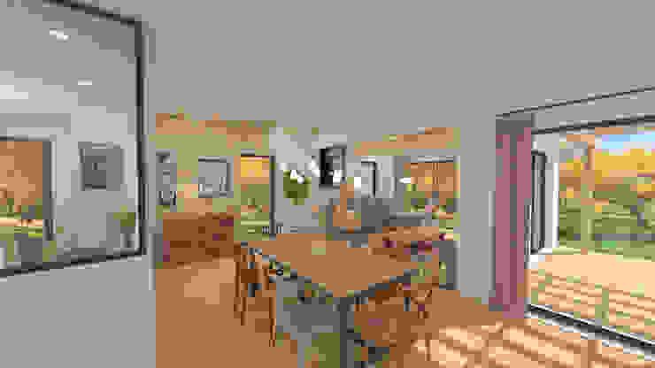 Aménagement et décoration d'une maison neuve – Lagnieu Salle à manger moderne par 1.61 design Moderne