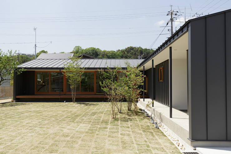 toki Architect design office Wooden houses Metal Grey