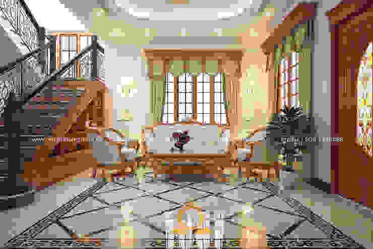 Scandinavian style living room by Nội thất Long Thành Scandinavian
