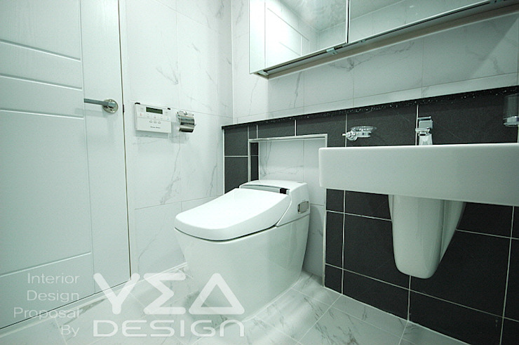 깨끗하고 모던한 욕실만들기 모던스타일 욕실 by 예아디자인 [주]디자인그룹예아 모던 타일