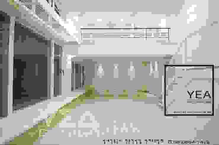 거실천정에 서재만들기: 예아디자인   [주]디자인그룹예아의 현대 ,모던 우드 우드 그레인