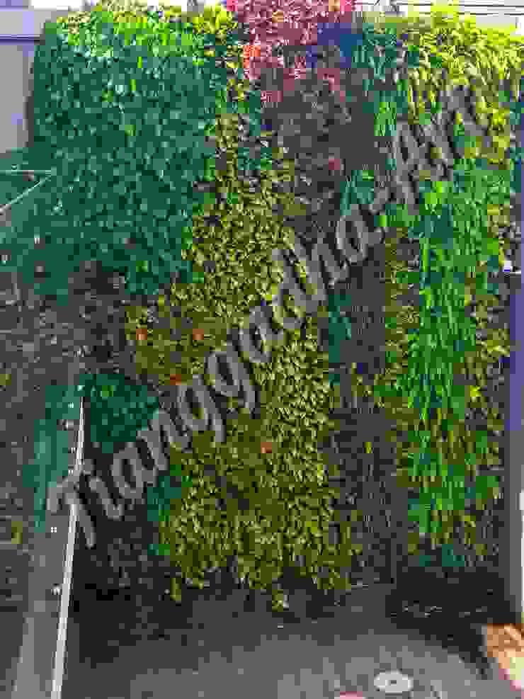 Vertical garden solusi mengatasi keterbatasan lahan taman Oleh Tukang Taman Surabaya - Tianggadha-art Modern Aluminium/Seng