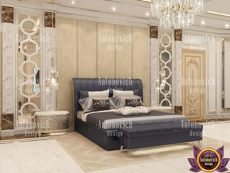 Interior design Masterpieces from Katrina Antonovich Modern style bedroom by Luxury Antonovich Design Modern