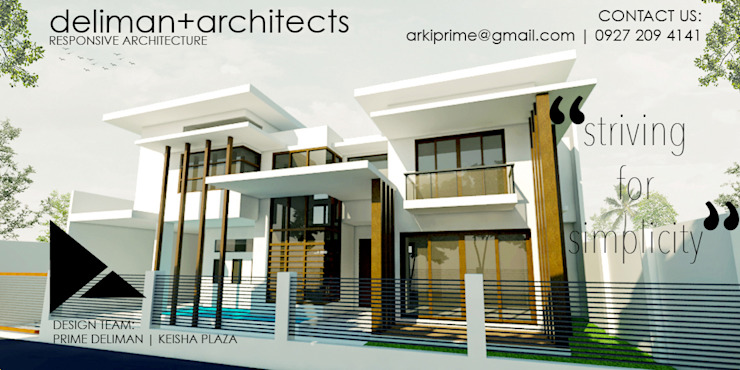 STRIVING FOR SIMPLICITY (Proposed Two - Storey Residential Building) by Deliman Architects