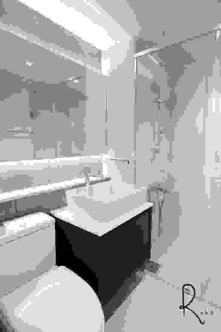 인테리어,디자인,부산인테리어,부산아파트인테리어,부산욕실인테리어,부산욕실리모델링,욕실인테리어,욕실리모델링 모던스타일 욕실 by 로하디자인 모던