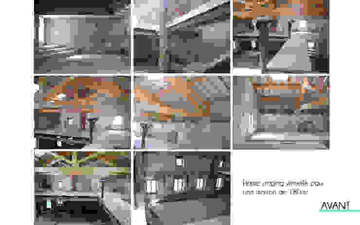 Home staging virtuelle pour la vente d'une maison - Pélussin par 1.61 design Moderne