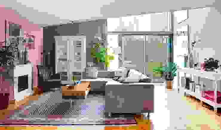 De zithoek Eclectische woonkamers van Regina Dijkstra Design Eclectisch