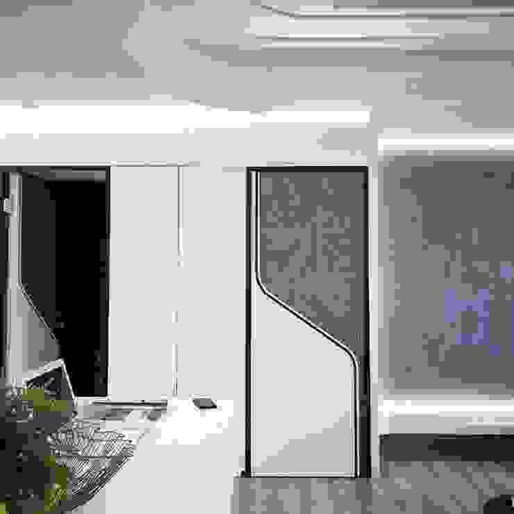 Modern meets culture and heritage 现代客厅設計點子、靈感 & 圖片 根據 On Designlab.ltd 現代風 塑木複合材料