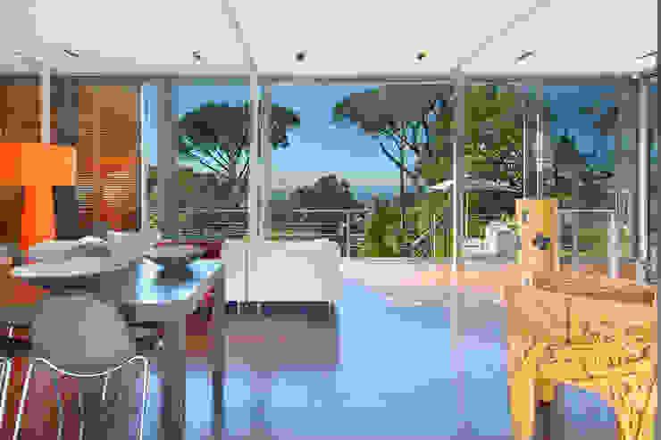 Living & Dining Room Modern living room by Van der Merwe Miszewski Architects Modern Wood Wood effect