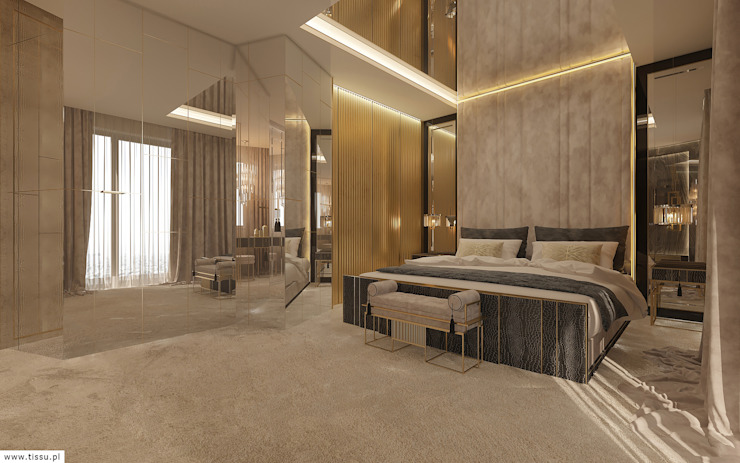 Eclectic style bedroom by TISSU Architecture Eclectic Marble