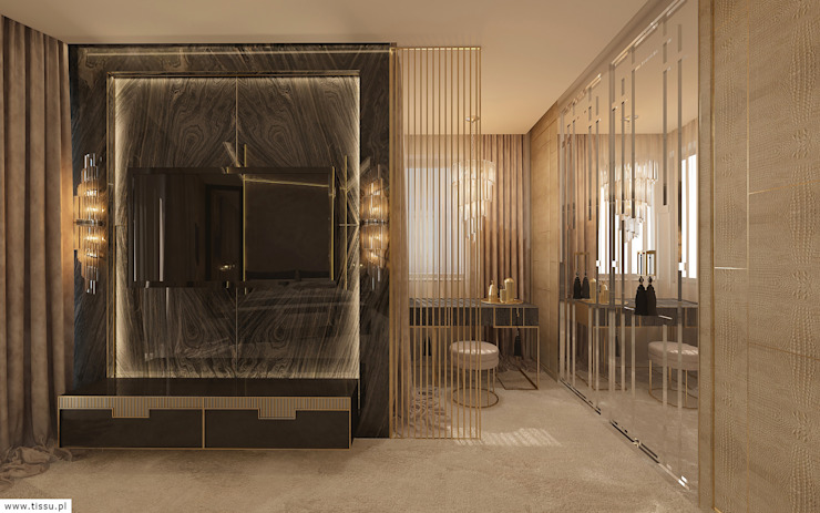 Modern style bedroom by TISSU Architecture Modern Marble
