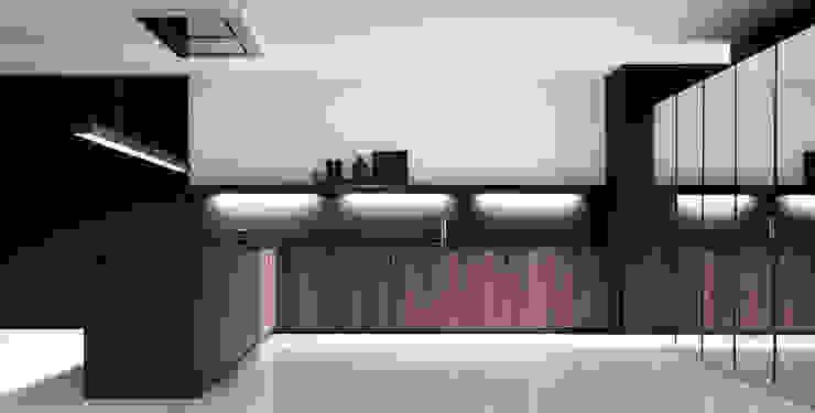 Armários e bancadas de cozinha  por PTC Kitchens  , Moderno
