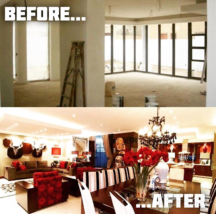 Living/Dining-Room Revamp by Gotz Consulting & Interiors