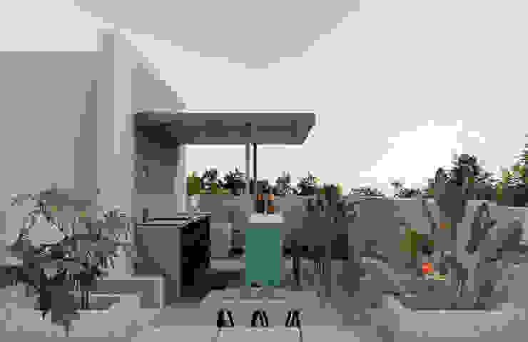Terraza RA! Balcones y terrazas eclécticos