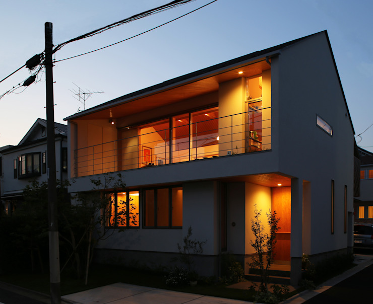 つなぎ梁の家 西島正樹/プライム一級建築士事務所 木造住宅 砂岩 灰色