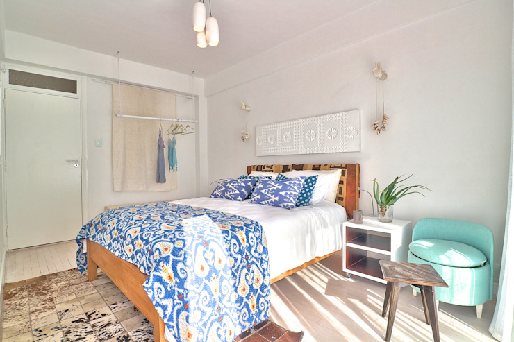 Beach Retreat Eclectic style bedroom by Studio Do Cabo Eclectic
